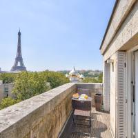 Luxueux Studio AC-Terrasse Vue sur la Tour Eiffel