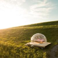 Bubble-Suite mit Blick auf die Alpenkette