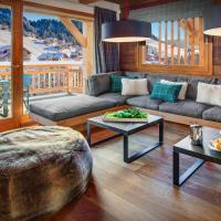 Perfect alpine holiday in modern chalet for 16 close to village & pistes with spa & games room