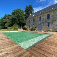 La Lande du Rest - Le Quillio Magnifique ancienne ferme de notables avec piscine chauffée