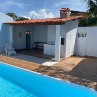 Casa temporada c/ piscina a 500m da praia