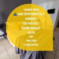 Chambre 2 René CASSINBalconWIFIMini-frigoTV