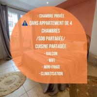 Chambre 1 René CASSINBalconWIFIMini-frigoTV