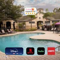 10 mins to Disney - Hot tub - King Purple bed, hotel in Orlando