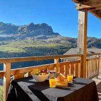 Vue panoramique sur les montagnes plein Sud - T2 Skis aux pieds, Piscine, Jacuzzi