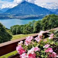 Chalet Xanadu 2-Storey Apartment with Amazing Alps & Lake View, hotel in Sigriswil