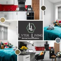 1 Bedroom Studio Apartment by Lyter Living Short Lets Serviced Accommodation Leicester with Wifi