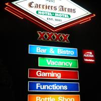 Carriers Arms Hotel Motel, hotel em Maryborough