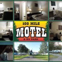 100 Mile Motel & RV Park, hotel em One Hundred Mile House