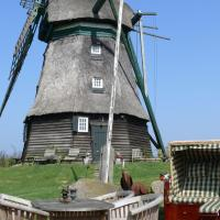 Windmill Holiday home in Farve garden and panoramic views, hotel en Wangels
