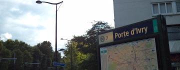 Hotels near Porte d'Ivry Metro Station