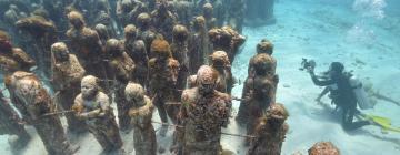 Cancunin vedenalainen museo – hotellit lähistöllä