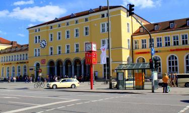 Центральный железнодорожный вокзал Регенсбурга: отели поблизости