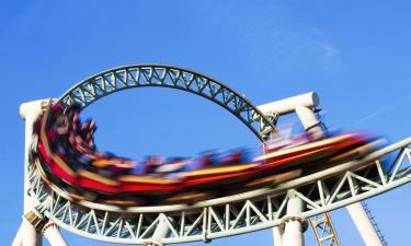 """Pramogų parkas """"Six Flags New England"""": viešbučiai netoliese"""
