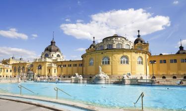 Termálne kúpele Széchenyi – hotely v okolí
