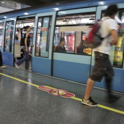 Los Heroes Metro Station