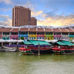 Singapore Riverside: Clarke Quay, Robertson Quay, Boat Quay, Singapore