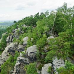 Elbsandsteingebirge, Arnoltice u Decina
