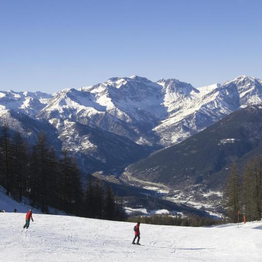 Skidåkning i Alperna