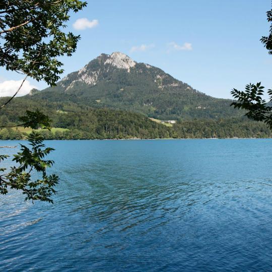 Úszás a Fuschl tóban