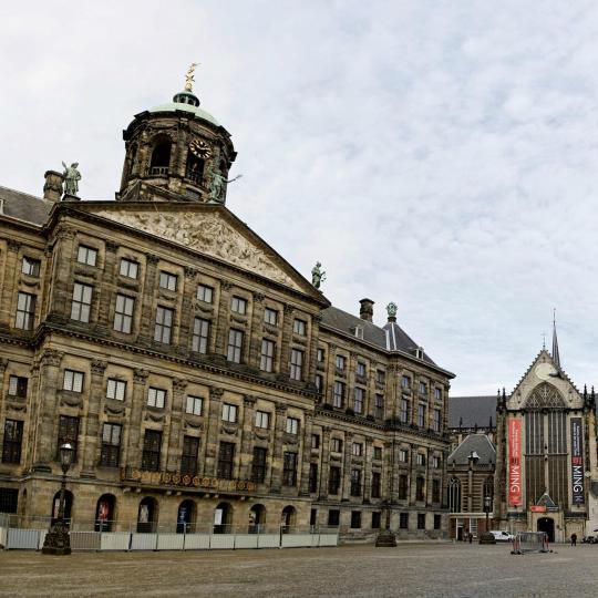 Dam Square di Amsterdam