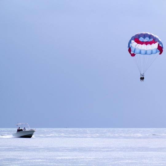 Water skiing, jet-skiing and parasailing