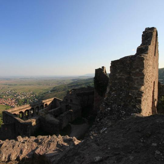 Hiking among Castle Ruins