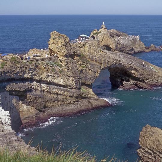 Rocher de la Vierge à Biarritz
