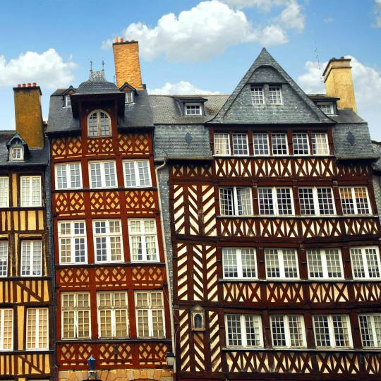 The historic centre of Rennes