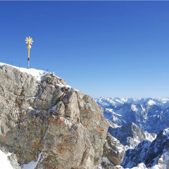 Skifahren und Wintersport auf der Zugspitze