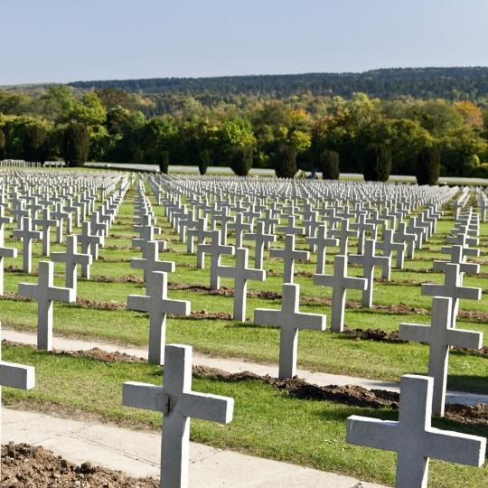 Champ de bataille de Verdun et cimetière américain