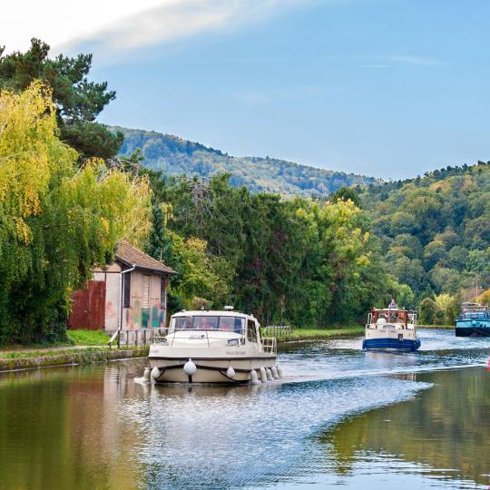 ヴォージュ運河での船旅