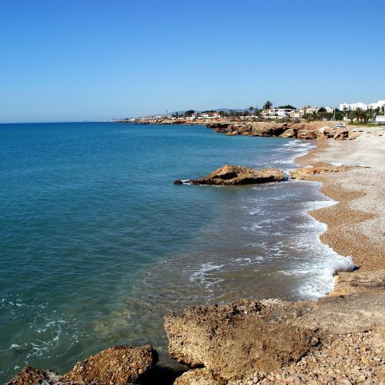 Vinaroz town and Playa del Fortín Beach