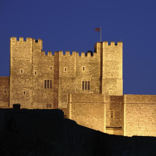 A formidable English fortress at Dover Castle