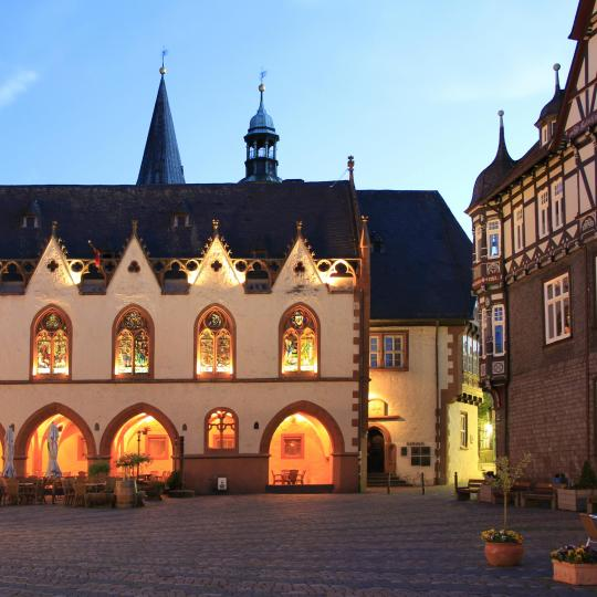 Admire Goslar's carved half-timbered houses