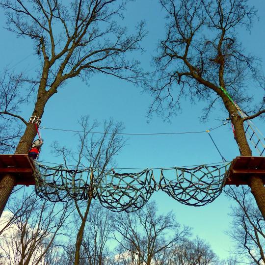 Balade au sommet des arbres de Falzes