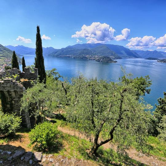 Fantastic views at sacred Sacro Monte di Ossuccio