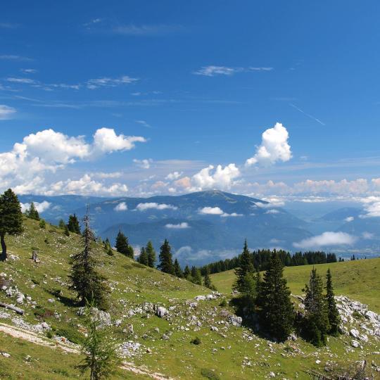 Hiking along the Alpe-Adria-Trail
