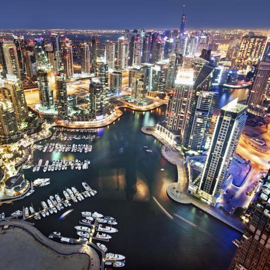 Un paseo por la Marina de Dubái