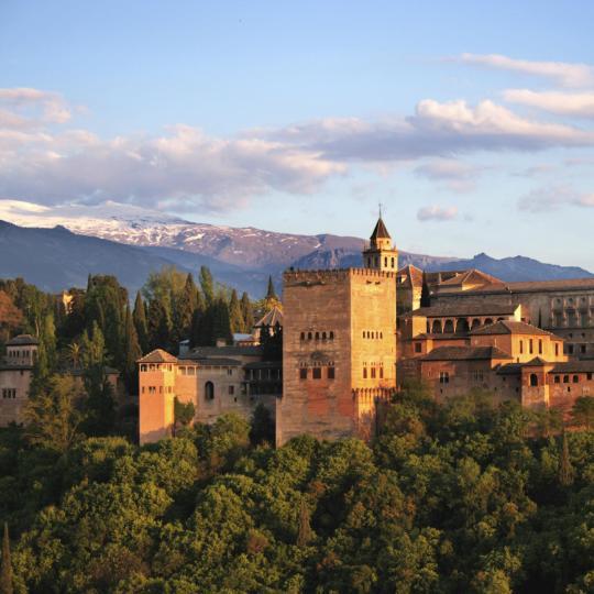 Виды на Альгамбру с пика Св. Николая
