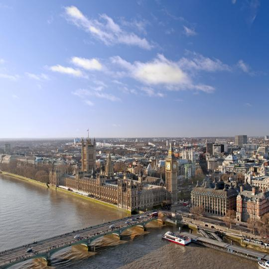 Scenic views from the London Eye