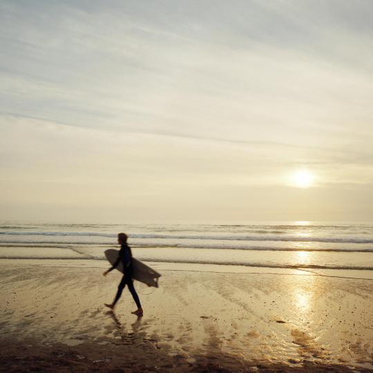 Surfing off Yorkshire's coast