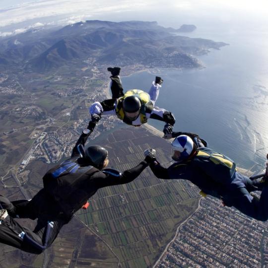 Skydiving and hot air ballooning