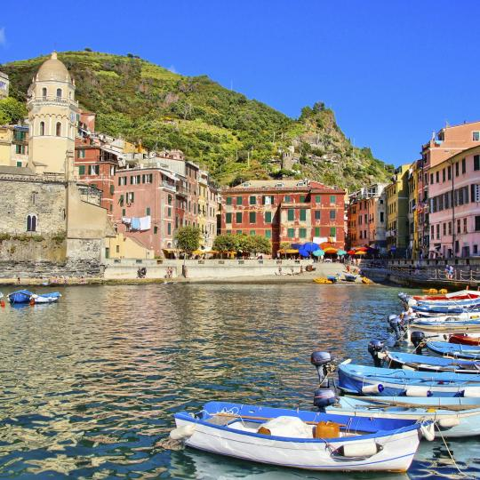 The colourful sun-soaked village of Vernazza