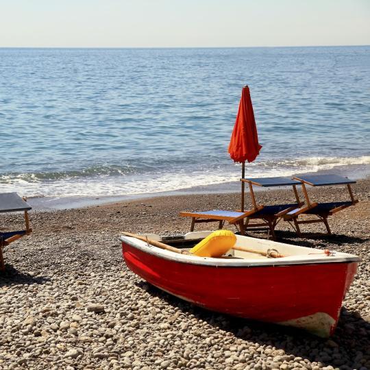 Sunbathing along the Amalfi Coast