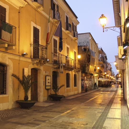 Författaren Gabriele D'Annunzios födelseort och museum