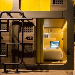 Kapslové hotely  40 kapslových hotelů v Tokiu