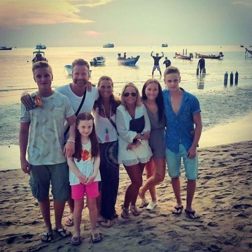 Thomas with family
