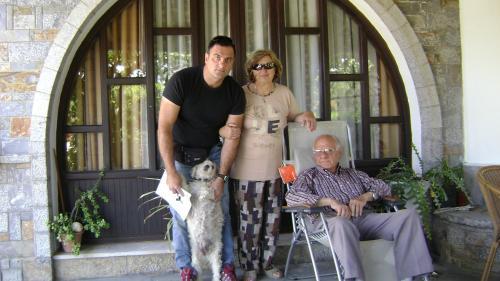 Family Aspradakis. Nikos , Irene and Emmanuel