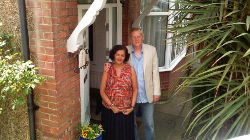 The hosts - Alan and Mala